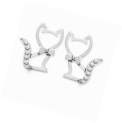 findout silver absolutely love cats earrings f549