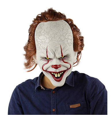 Halloween Scary Mask Pennywise Joker Mask It Chapter Two 2 Horror Clown Mask New