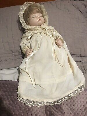 Doll Artist Antique Reproduction Baby Doll Porcelain Face And Hands Weighted