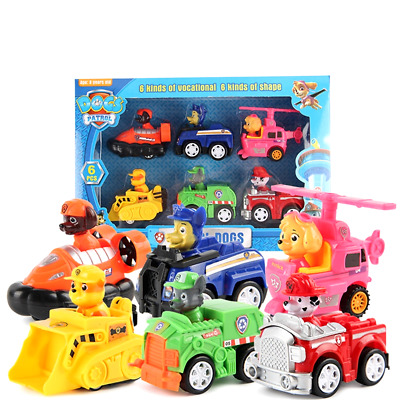 6pcs Paw Patrol Puppy Dogs With Retail Box Cartoon For Action Figure Toy Car Kid