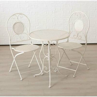 TABLE SCANDINAVE RONDE Blanche HD3210 (B904) - £70.61 ...