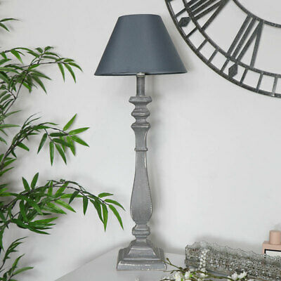 Curved Table Lamp Grey vintage shabby chic lighting home decor living room