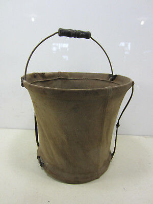 Antique The Planet Co. Duplex Canvas Folding Water Pail
