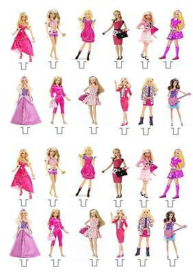 Barbie STAND UP Cupcake Fairy Cake Toppers Edible Decorations