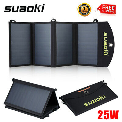 SUAOKI 21W Foldable Solar Panel Smartphone Tablet Battery Charger Power Bank USB