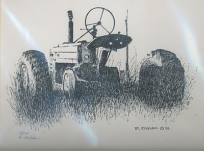 John Deere Limited Edition Signed Tractor Print Rear Dusk #'d 5/500