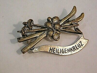 Vintage German Bavarian Octoberfest Hat Pin Brooch -  HEILIGENKREUZ