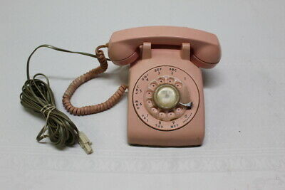 1960's Pink Western Electric Bell System 500 Rotary Desk Telephone