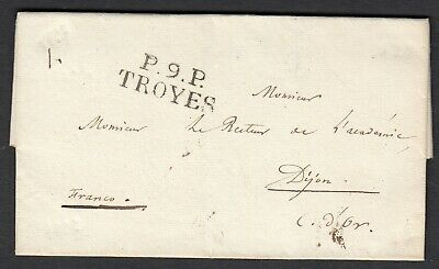 Marque P9P Troyes Aube Dijon Cote D'or 1827 Lettre Cover