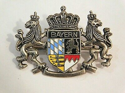 Vintage German Bavarian Octoberfest Hat Pin Brooch -  BAYERN