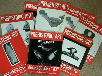 "8 Scarce Early Copies Of The Journal ""Prehistoric Art"" - Complete Years 1982,83"