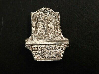 Vintage German Bavarian Octoberfest Hat Pin Brooch - JOHANN STRAUSS WIEN