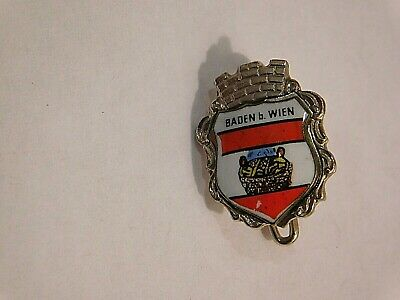 Vintage German Bavarian Octoberfest Hat Pin Brooch - BADEN WIEN
