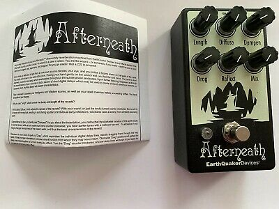 Earthquaker Devices Afterneath Otherworldly Reverb Near Mint GENTLY USED w/ Box