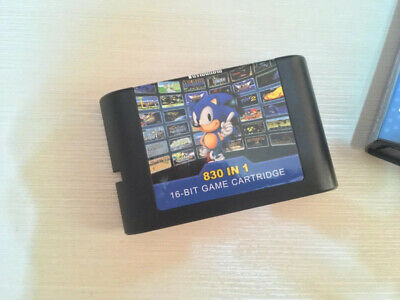 Ultimate 830in1 EDMD Remix Game Cartridge US Eu SEGA GENESIS MegaDrive Console