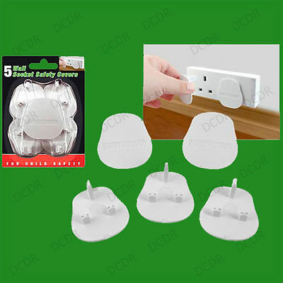 5x UK Mains Wall Socket Safety Protection Cover Baby Infant Toddler Child Proof
