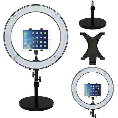 "Prismatic LED Halo 18"" Ring Light with Weighted light Stand & Tablet Mount"