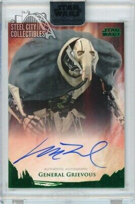 Matthew Wood General Grievous 2018 Topps Star Wars Stellar Signatures Auto 3/20