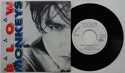 "THE BLOW MONKEYS 'It Doesn't Have To Be This Way' 1986 Italian PROMO 7"" / 45"