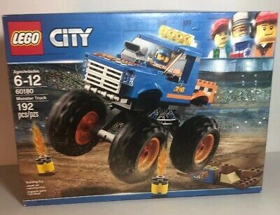 Lego City Monster Truck 60180 Building Kit 192 Piece Set New In Sealed Box