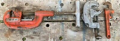 "Ridgid Tools Lot 2A Pipe Cutter, 8"" Pipe Wrench, 20 Tubing Cutter"