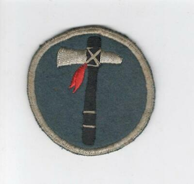 British Made Black Back WW 2 US Army 19th Corps Wool Patch Inv# D939