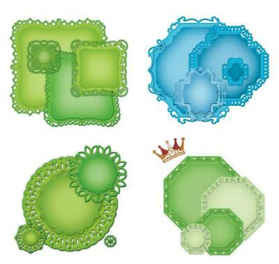 SPELLBINDERS Stanzschablone NESTABILITIES große Etiketten + DECORATIVE ELEMENTS