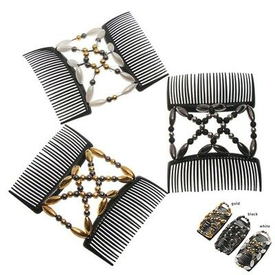 Hair Comb Double Tool Magic Styling Hairpin Elastic Clip Beaded