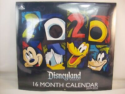 Disney 16 MONTH Calendar for 2020 DISNEYLAND and CALIFORNIA ADVENTURE