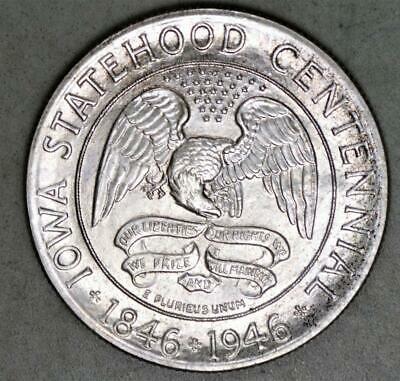 1946 Iowa Centennial Commemorative Half Dollar Silver Coin