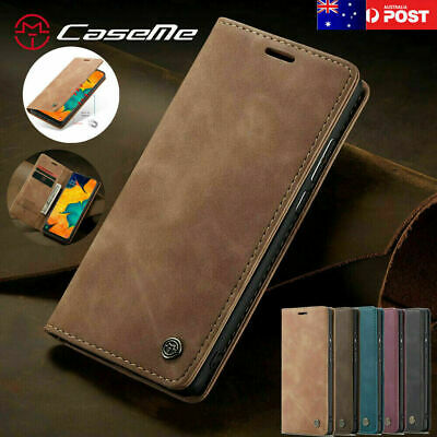 For iPhone 11 Pro Max Flip Case Magnetic PU Leather Wallet Cards Holder Cover