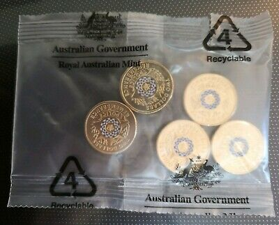 2019 POLICE REMEMBRANCE $2 DOLLAR 5 COIN SACHET - UNC MINT Bag with 5 coins