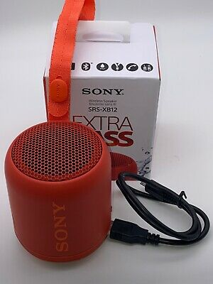 SONY SRS-XB12 Extra Bass Bluetooth Compact Portable Speaker (SRS-XB12/BC)-Red