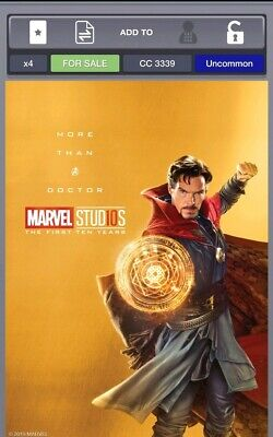 Topps Marvel Collect Doctor Strange The First 10 Years Gold [DIGITAL] CC 500
