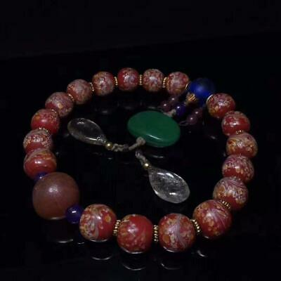 Collection of Chinese folk fine glass 18 bracelets