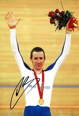 Bradley WIGGINS Signed Autograph 12x8 Photo 2 Olympic Medal Winner AFTAL COA
