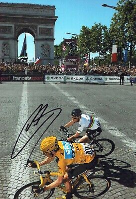 Bradley WIGGINS Signed Autograph 12x8 Photo 2 Tour de France Winner AFTAL COA