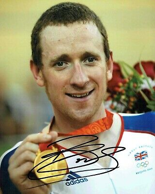 Bradley WIGGINS Signed Autograph 10x8 Photo 2 Cycling Olympic Winner AFTAL COA