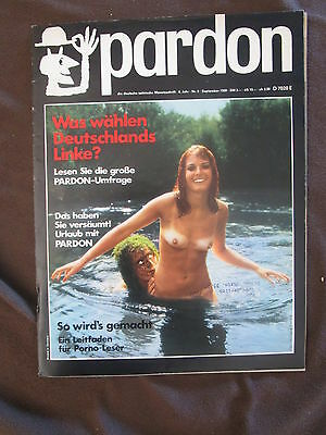 pardon 9 1969 Satire Magazin Olympia Press Pornografie APO Fritz Teufel Wahlen