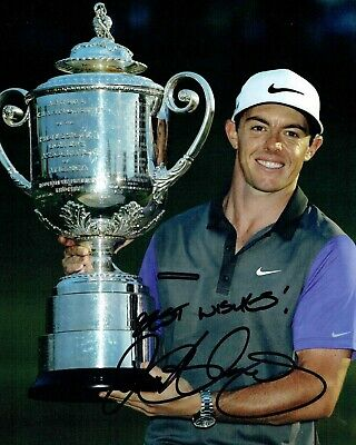 Rory McILROY SIGNED AUTOGRAPH 10x8 Photo AFTAL COA European & US Golf Winner
