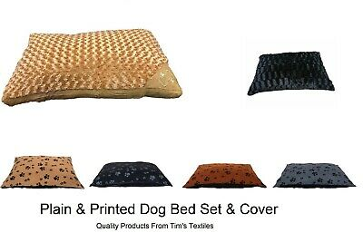 Fur Dog Bed Cushion Washable Zipped Mattress Cover Only Warm & Soft Large & XL