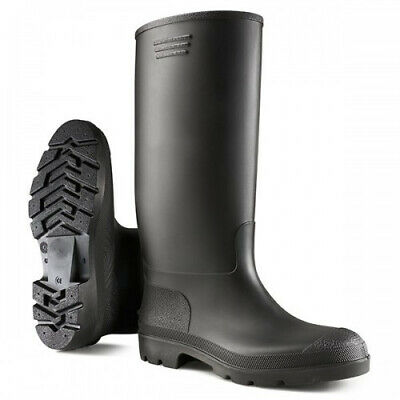 New Black Wellington Boots Travel Camping Mens Ladies Unisex Shoes Mud Wellies