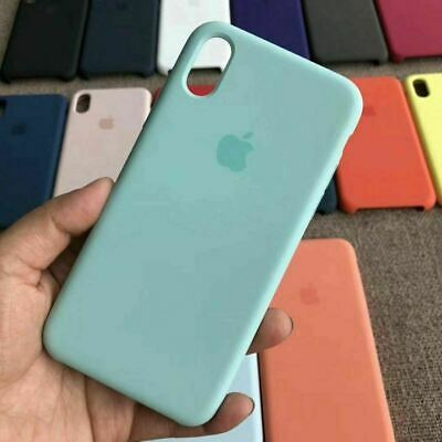 Case for Apple iPhone XS Max XR 8 7 6 Plus Original Genuine Hard Silicone Cover