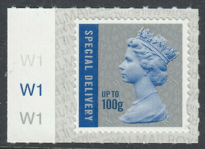 GB 2019 100g SPECIAL DELIVERY CODE M19L SBP2i MACHIN CYLINDER W1 on SELVEDGE MNH