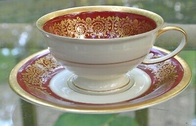 Rosenthal SELB-GERMANY WINIFRED U.S. ZONE Demitasse Footed Cup & Saucer