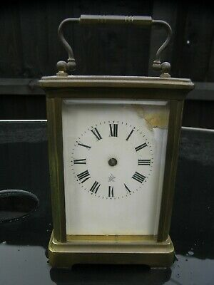 R&Co Antique Brass Cased Carriage Clock