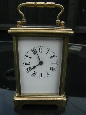 French Antique Brass Cased Carriage Clock