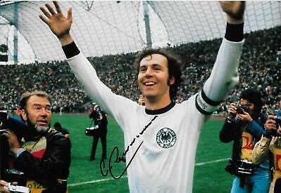 FRANZ BECKENBAUER personally signed 12x8 - West Germany soccer legend