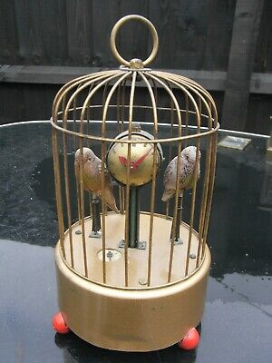 A Vintage Precision Watch Co Singing Birds in Cage Mantle Clock