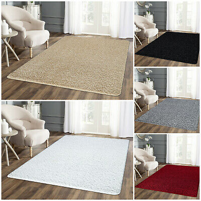 Extra Large Floor Area Plain Soft Rugs Thick Pile Glitter Bedroom Carpet Runners